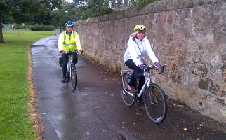 Alison Johnsone cycling