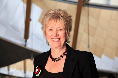 Christine Grahame MSP in Parliament