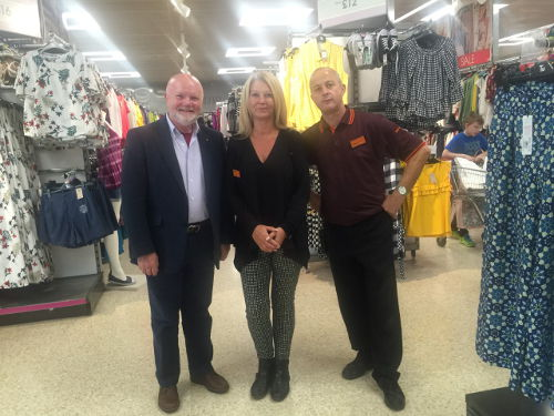 Colin Beattie MSP at Sainsburys Straiton