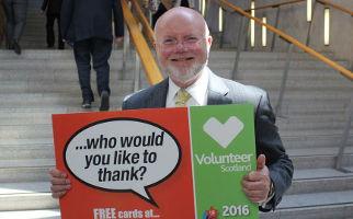 Colin Beattie MSP supporting Volunteer Scotland