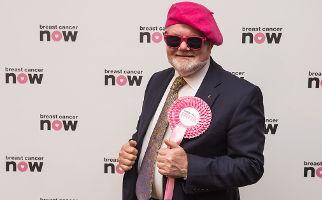 Colin Beattie wears it pink