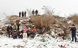 Damhead illegally dumped waste protestors Headline
