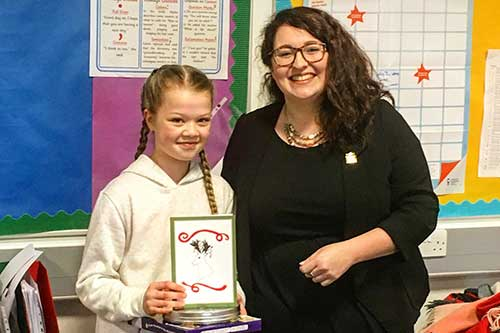 Danielle Rowley MP 2018 Christmas card competition
