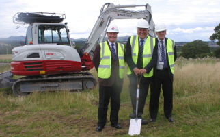 Gorebridge sod cutting with Jim Cassidy