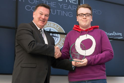 Jai Fitzpatrick, Frances O'Neill Student of the Year Award Computing with Alex Craig, Deputy Principal