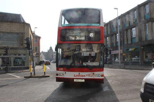 Lothian 49 Bus in Dalkeith