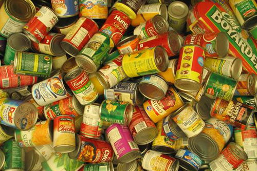 Midlothian Food Bank Tins