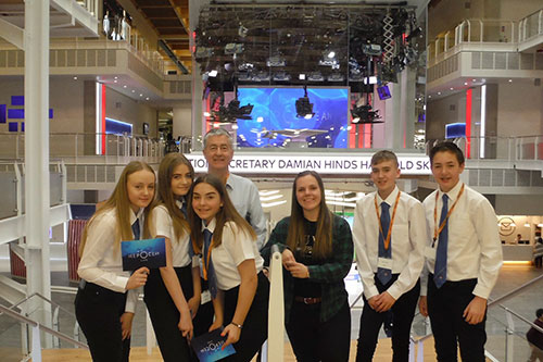 Newbattle High pupils on Sky Deep Ocean Live