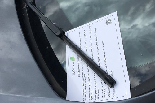 Parking Enforcement has begun