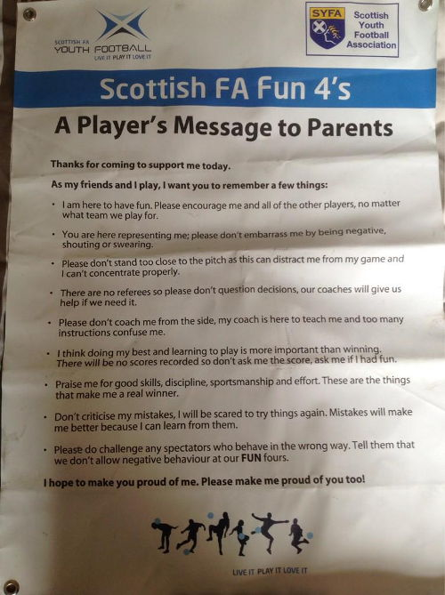 Players Message to Parents Feature