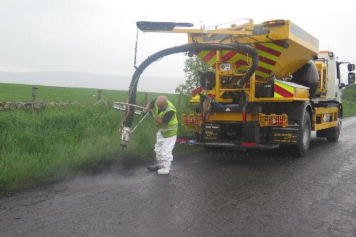 Pothole repair work