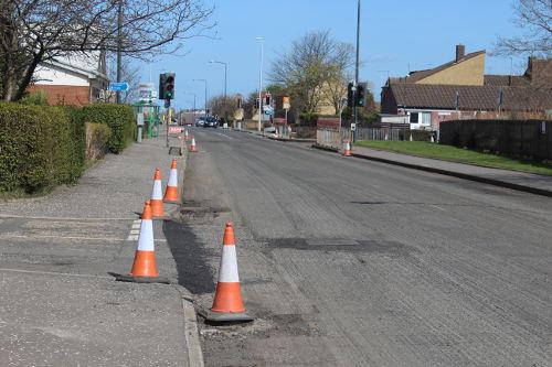 Rosewell Road looking towards Bonnyrigg
