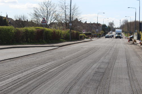 Rosewell Road looking towards Poltonhall
