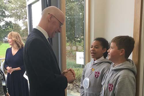 Roslin Primary opening by John Swinney Deputy First Minister