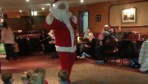 Santa comes to Bonnyrigg Rose