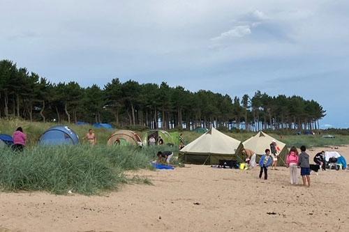 Tents-on-Yellowcraig-Beach